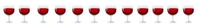 Emojis vinho tinto.