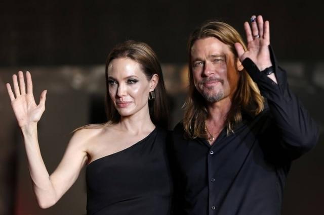 Os atores Brad Pitt e Angelina Jolie