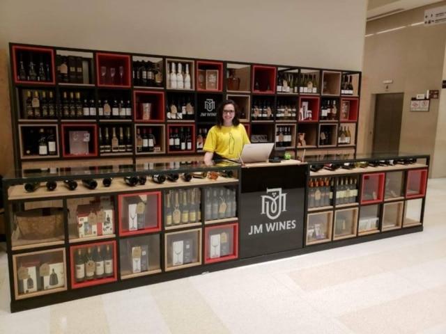 Quiosque da JM Wines no Shopping Cidade São Paulo