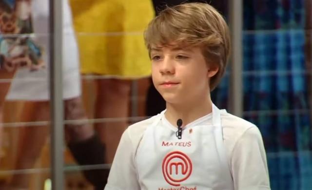 Mateus esteve entre os participantes do 'MasterChef Júnior' em 2015