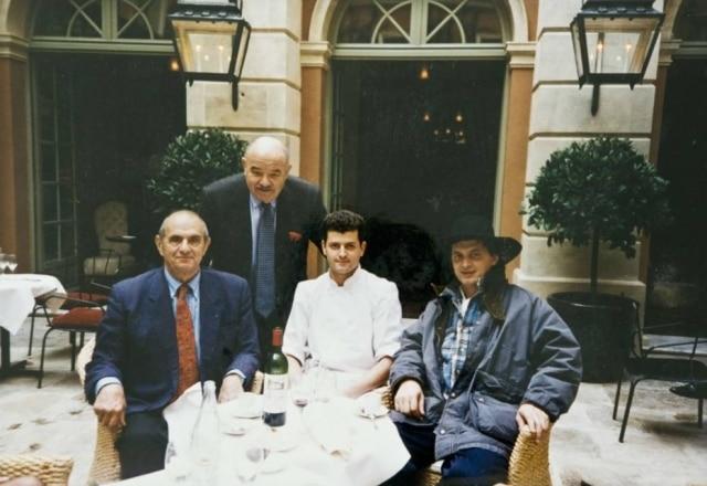 Arquivo. Bocuse ao lado de Pierre, Pascal e Marc Veyrat