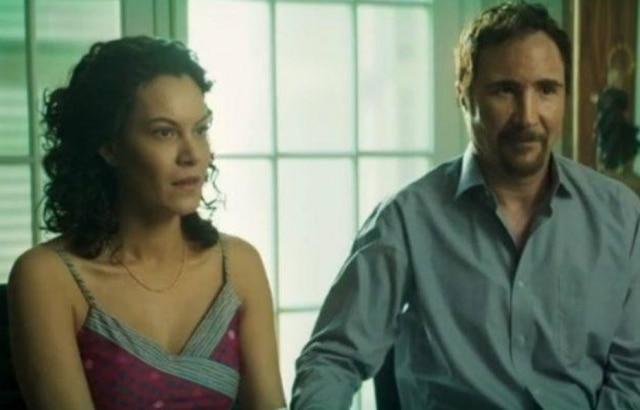A atriz Hermila Guedes e o ator João Miguel.
