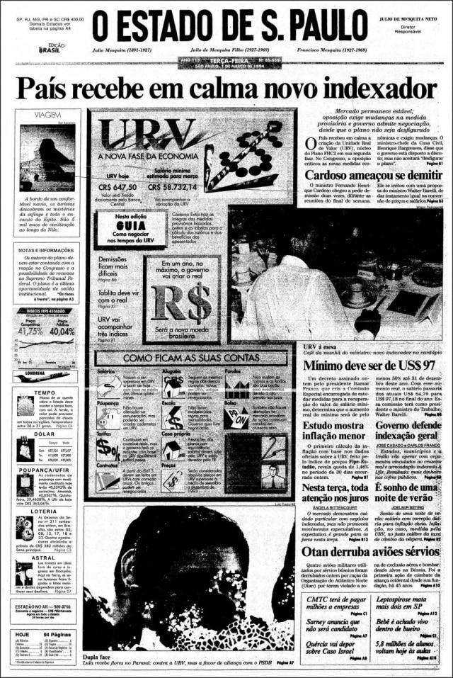 O Estado de S.Paulo - 01/3/1994