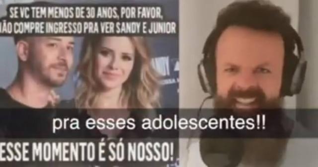 Amon Lima em paródia sobre show de Sandy e Junior