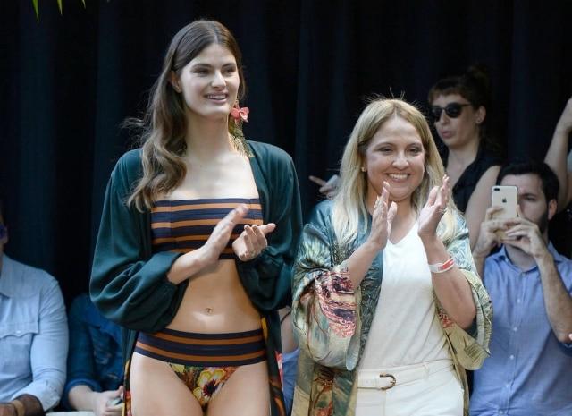 Isabeli Fontana e Liana Thomaz, estilista da Água de Coco.