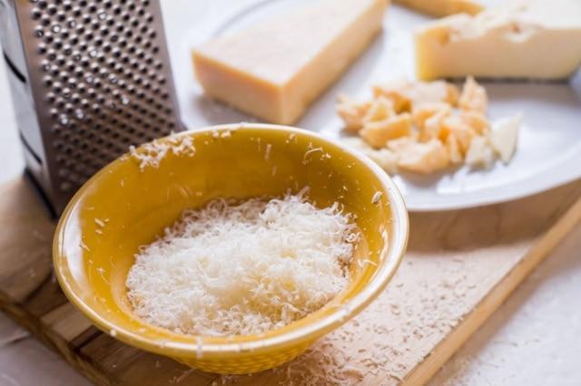 Teste dos queijos tipo parmesão de supermercado
