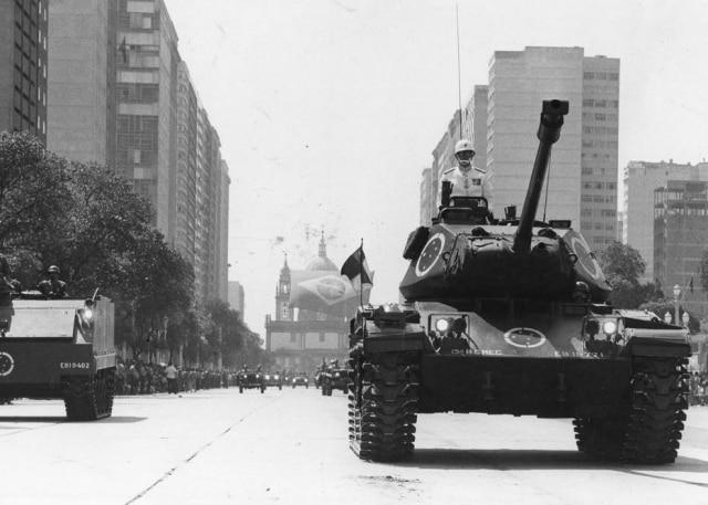Parada militar dos 150 anos da Independência no Rio de Janeiro, 7/9/1972