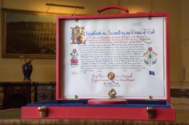 O Instrumento de Consentimento oficializa a autorização da Coroa para o casamento de Harry e Meghan.