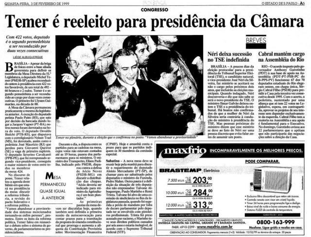 > Estadão - 03/02/1999
