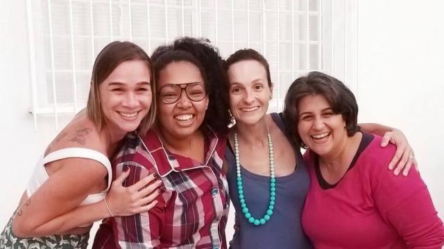 Joema Maia Kagohara, Deh Bastos, Tatiana Fávaro e Jaqueline Correia Gaspar.
