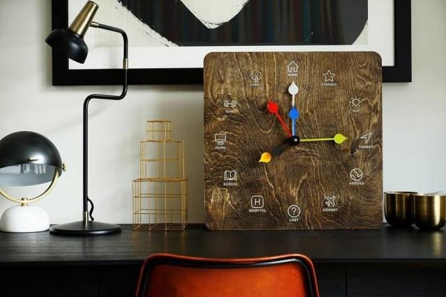 OEta Clock mostra os lugares onde as pessoas conectadas estão. É possível colocar vários ponteiros.