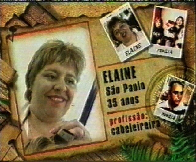 Elaine em chamada do 'No Limite'.