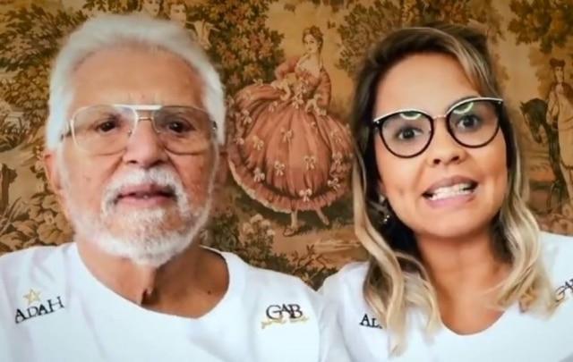 Carlos Alberto de Nóbrega e sua esposa, Renata