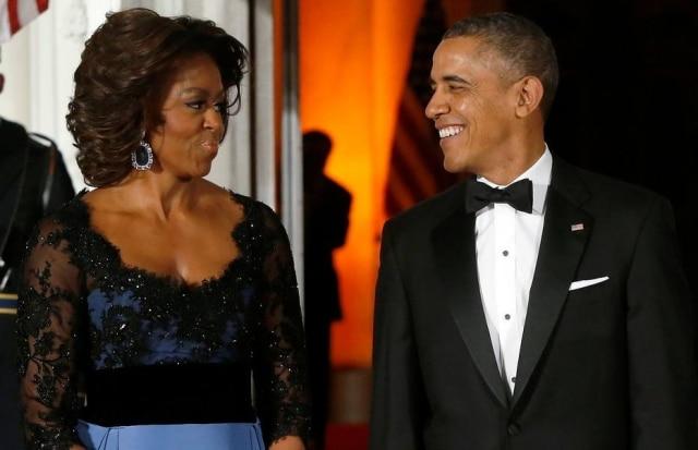 Michelle e Barack Obama na Casa Branca, em Washington, em fevereiro de 2014.