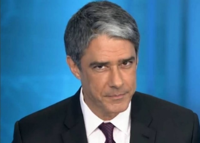 O jornalista William Bonner, apresentador do 'Jornal Nacional', da TV Globo.