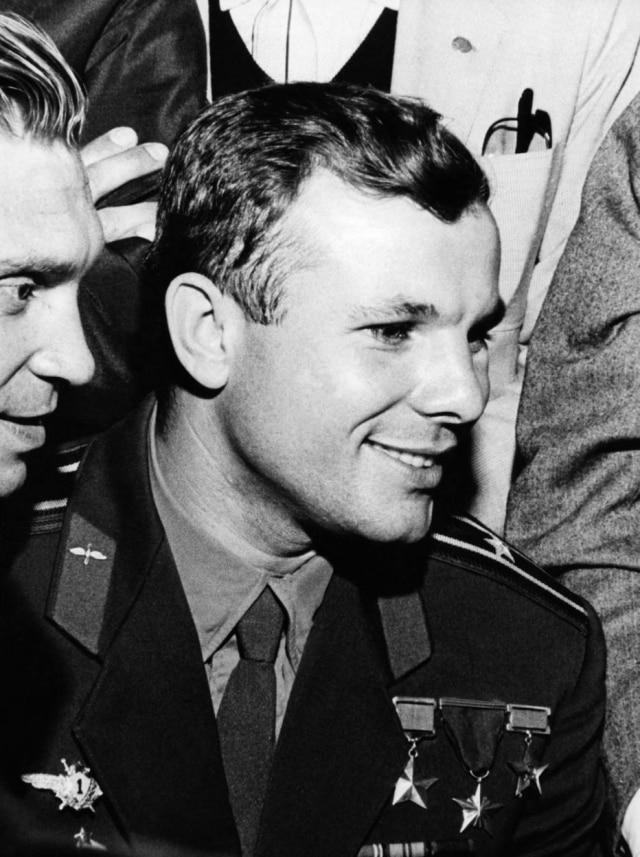 O astronauta russo Yuri Gagarin em visita a São Paulo.SP. 02/8/1961.