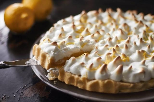 Receita de torta de limão e merengue