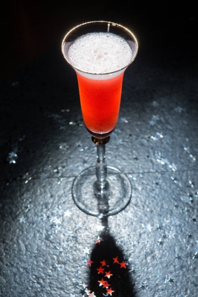 Receita de drinque Strawberry Bellini