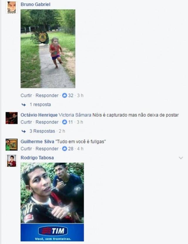 Internautas fizeram memes com a selfie do fugitivo.