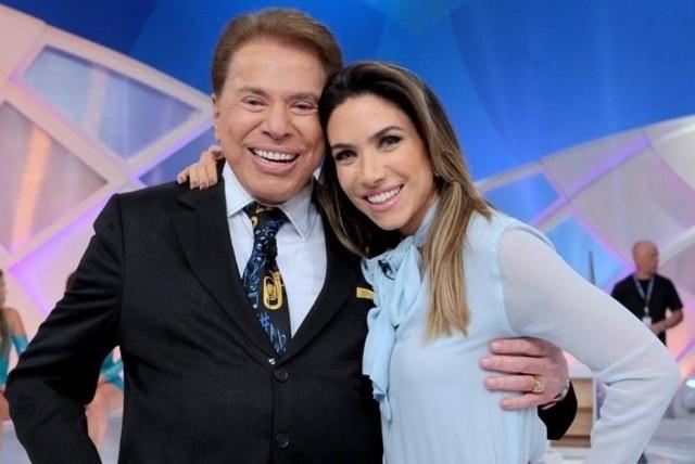 O apresentador Silvio Santos, dono do SBT, e a filha Patrícia Abravanel.