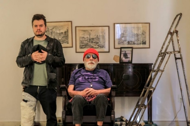 Parceria. Os atores Elcio Nogueira Seixas e Renato Borghi, juntos na peça 'Fim de Jogo'