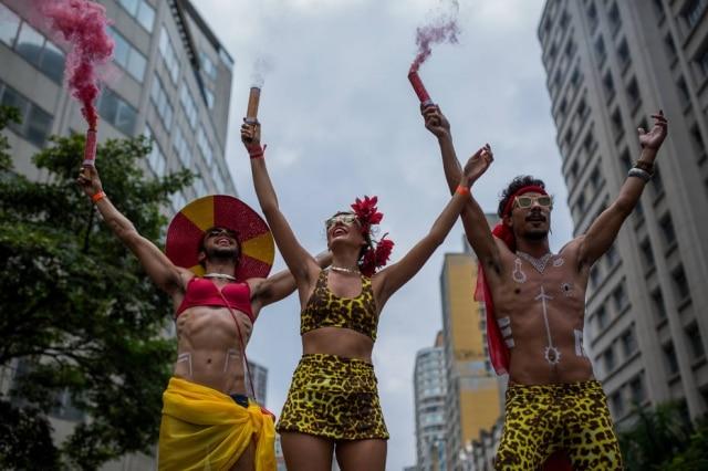 Rodrigo Guima, Raphaela Barcalla e Thiago Borba, o trio por trás do bloco Tarado Ni Você