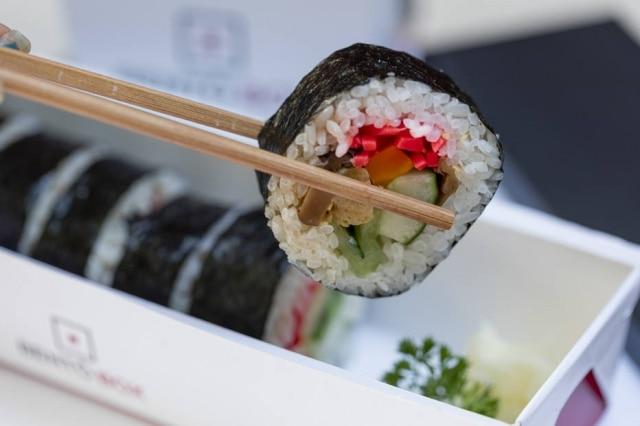 """No Bentô Box, """"pneuzinho"""" não leva peixe cru, apenas ingredientes cozidos e conservas."""