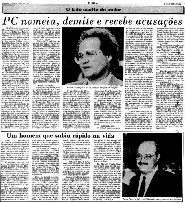 >> Estadão - 21/10/1990
