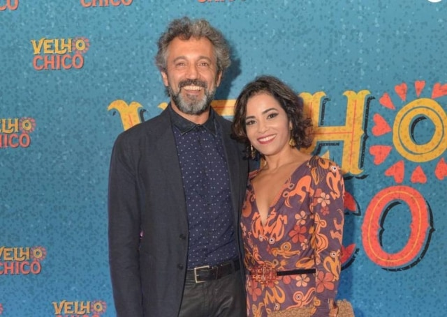 Domingos Montagner e sua esposa, Luciana Lima.