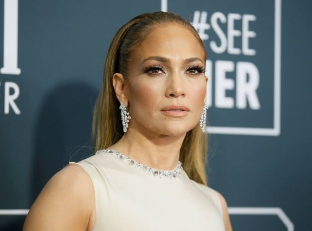 The singer-and-actress Jennifer Lopez at the 25th edition of the Critics' Choice Awards, in California, in January, in the year 2020.