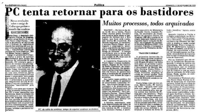 >> Estadão - 11/11/1990