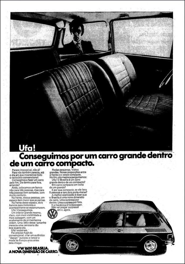Anúncio da Volkswagen publicado no Estadão de 13/6/1973