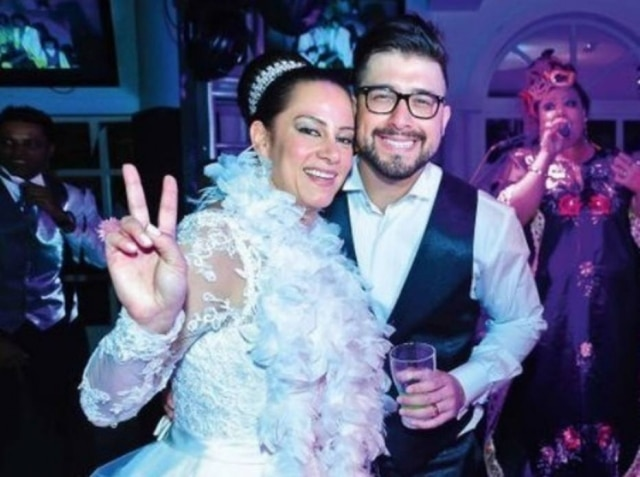 Silvia Abravanel e seu marido, Kleiton Pedroso.
