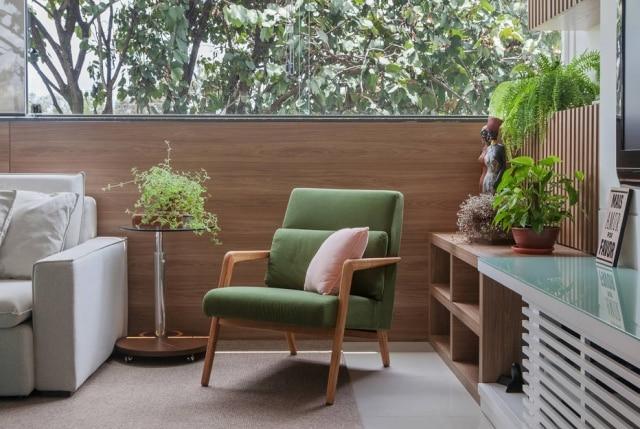 Após reforma, apartamento emBelo Horizonte ganha atrativos típicosdas casas da zona rural mineira.