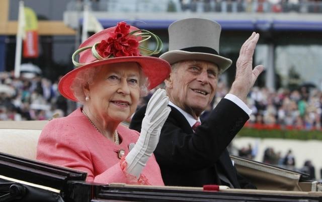 A rainha Elizabeth II e o príncipe Philip.