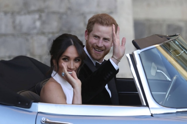 Meghan e Harry no dia em que se casaram, em maio de 2018.