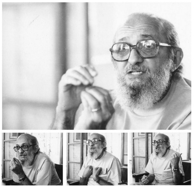 O professor Paulo Freire em entrevista ao Jornal da Tarde em 8/8/1979, um dia após retornar ao Brasil depois de 15 anos no exílio.