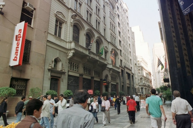 Rua Quinzede Novembro, no centro de SãoPaulo