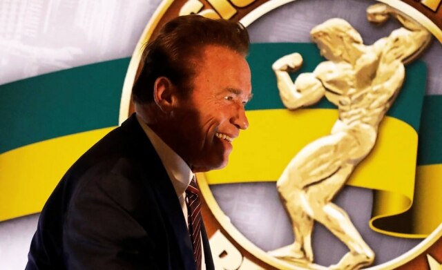 Arnold Schwarzenegger no evento Arnold Classic em São Paulo.