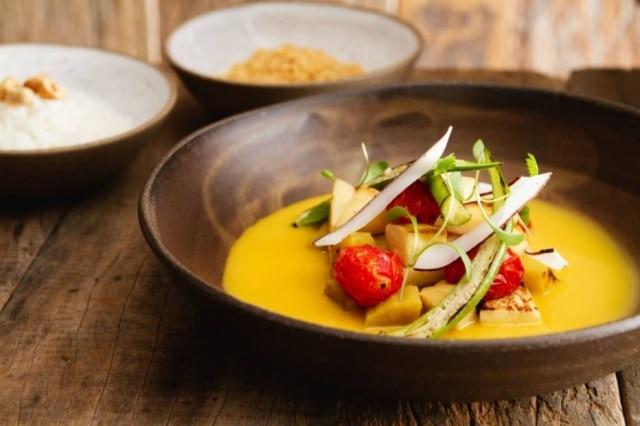 Moqueca vegana, uma das receitas do almoço no restaurante Manioca
