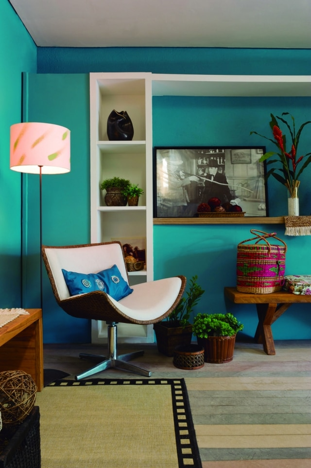 Tranquilidade sugerida pela Melodia do Mar, da Sherwin-Williams