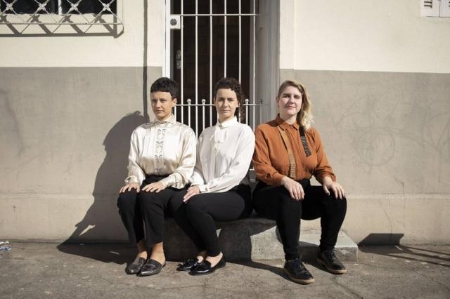 O trio Bolerinho é formado por Maria Beraldo, Marina Beraldo e Luisa Toller