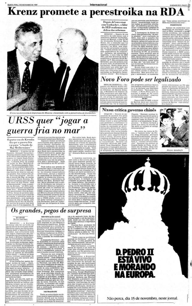 O Estado de S.Paulo - 02/11/1989