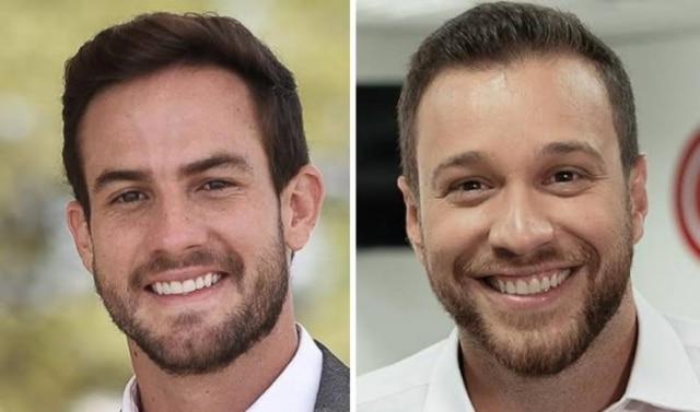 Daniel Adjuto e Cassius Zeilmann, jornalistas do SBT que foram contratados pelaCNN Brasil.