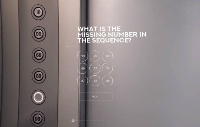 Primeira pergunta do teste pede que o candidato adivinhe qual é o número que falta na sequência.