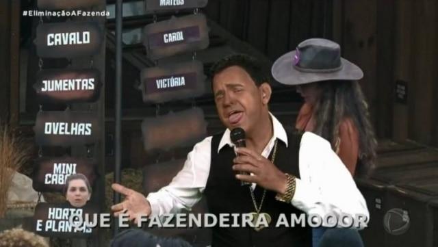 O humorista Carioca faz uso da técnica blackfaceem quadro de 'A Fazenda 12'