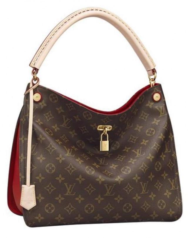 As bolsas Gaia Monogram da Louis Vuitton, na cor cereja, agora usam couro curtido com produtos vegetais