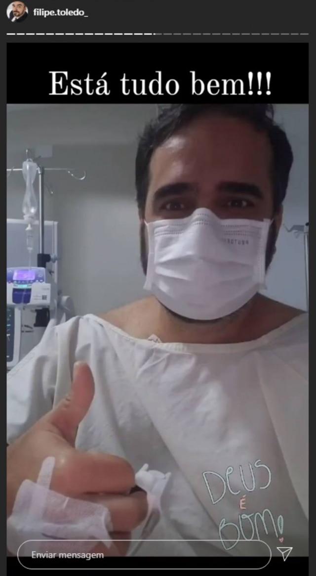 Jornalista Filipe Toledo manda recado em rede social após sofrer infarto