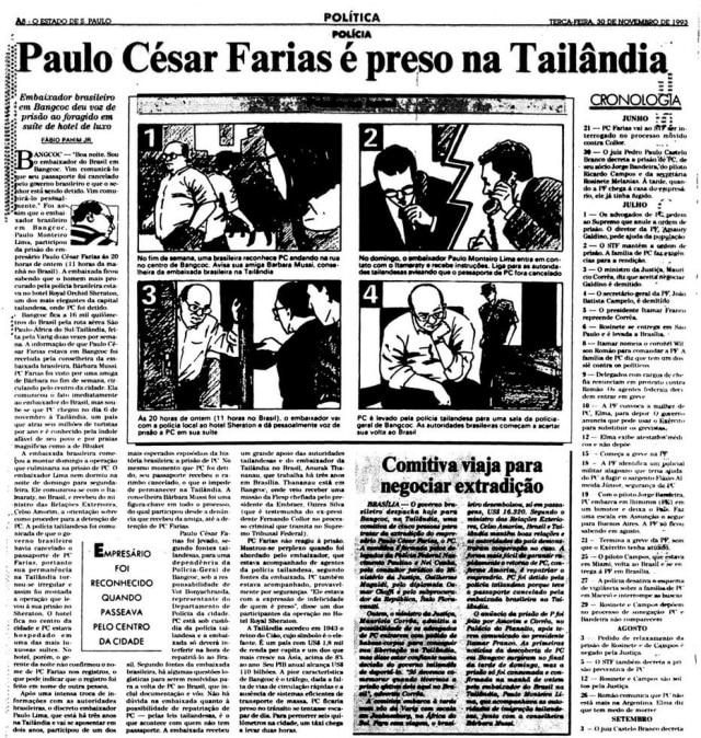 >> Estadão - 30/11/1993