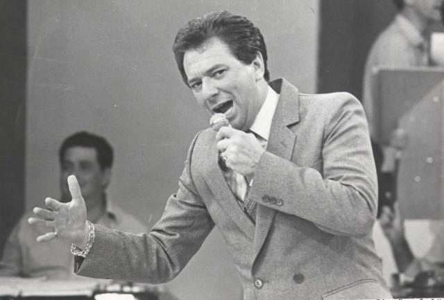 O apresentador Raul Gil em foto de 1983.